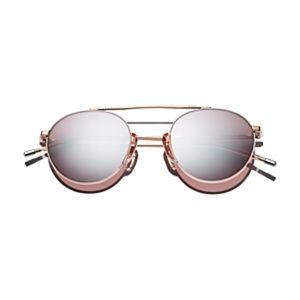 Dick Moby Bern Brow Bar Round Sunglasses, 49 mm